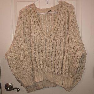 Free People oversized knit sweater